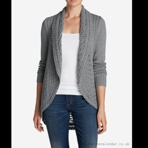 Eddie Bauer Log Gray Cardigan Sweater